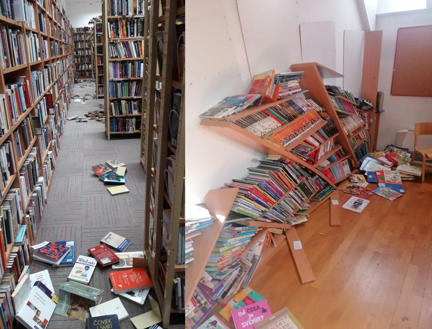 Knjižnica zatvorena dok se ne sanira šteta nastala u potresu
