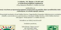 "Predstavljanje rezultata programa / projekata Udruženja ""Djeca prva"""