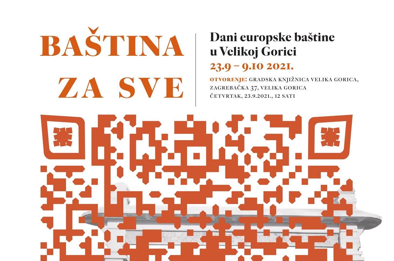 I knjižnica se uključuje u Dane europske baštine u Velikoj Gorici 2021.