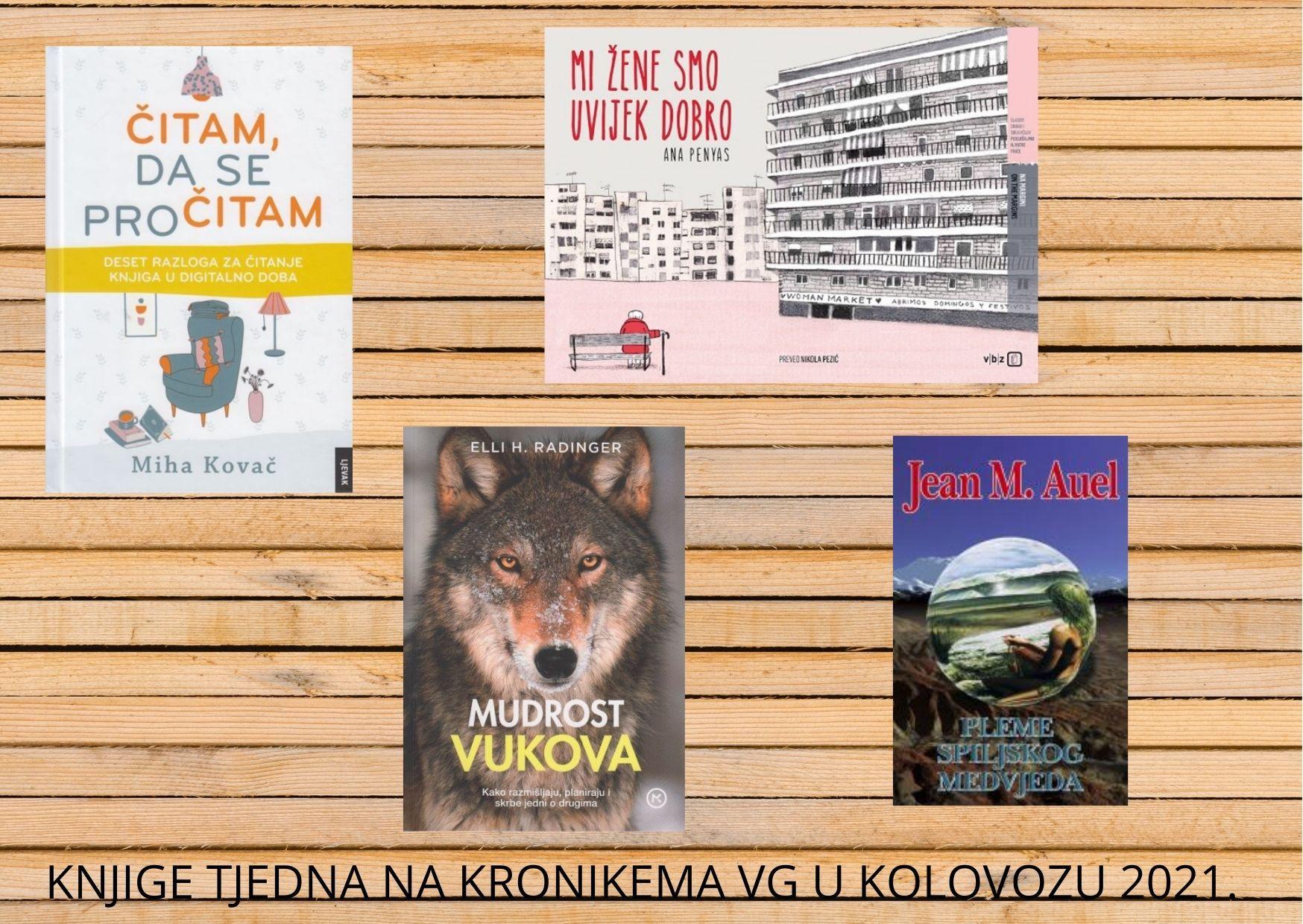 Knjige tjedna na portalu Kronike Velike Gorice u kolovozu 2021.